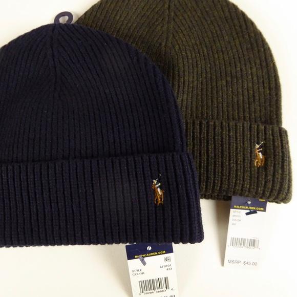 7d26dfb94a6 Merino Wool Watch Cap 2 Hat Set Polo Ralph Lauren